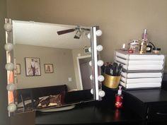 diy vanity on pinterest vanity tables vanities and makeup vanities. Black Bedroom Furniture Sets. Home Design Ideas