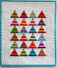 Modern Christmas  mini quilt