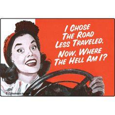 I chose the road less traveled...