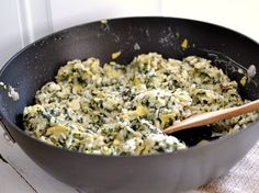 Spinach and artichoke risotto recipe