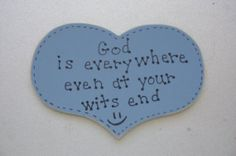 God is Everywhere Christian/Inspirational Magnet by ifrogcrafts