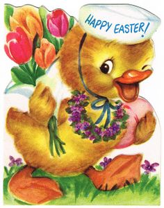 easter duckl, happi easter, holiday well, easter friend