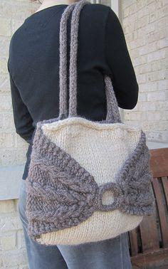 Dumpling Bag Knitting Pattern : Laporte Ave. Tote pattern by Sharon Dreifuss (She-Knits)