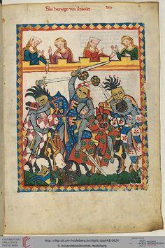 Codex Manesse, Der Herzog von Anhalt, Fol 017r, c. 1304-1340