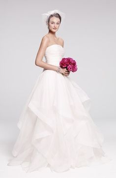 Ambiance~Distinctive Weddings and Events 2014: Rosa Clara Silk Organza Dress & Accessories  available at #Nordstrom  (410) 819-0046