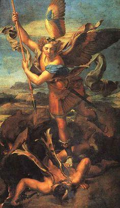 Archangel san miguel, archangel michael, pari, art, raphael, saint michael, demon, angels, satan