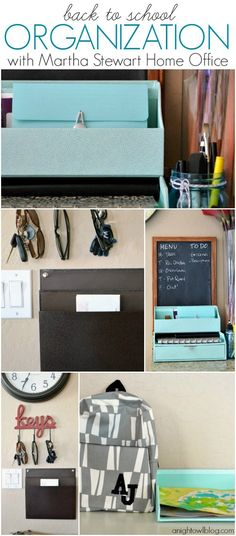Back to School Organization with Martha Stewart Home Office | #BacktoSchool #MarthaStewart #Home #Organization