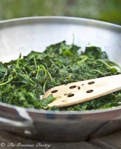 Clean Eating Garlic Baby Kale with Crushed Red Peppers
