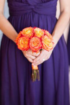 Orange Bridesmaid Bouquet   Meltzer's Florist   Abby Caldwell Photography   TheKnot.com