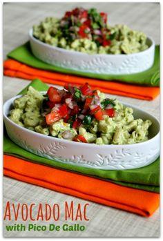 Recipe for Creamy Avocado Mac with Pico de Gallo