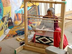 """""""Spider Woman instructed the Navajo women how to weave on a loom which Spider Man told them how to make.    Navajo (the """"Dine"""" people) weaver"""