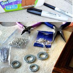 stamp sets, room idea, metal stamping, diy necklace, stamp necklac