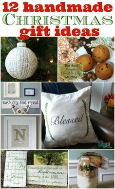 12 Handmade Christmas Gift Ideas #diy #gifts