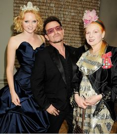 Lily Cole, Bono and Vivienne Westwood