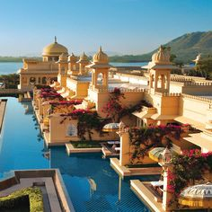 swimming pools, dream, resorts, oberoi udaivila, palaces, incredible india, places, travel, luxury hotels
