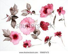 floral watercolor tattoo, watercolor paintings, illustrations, watercolor tattoos, colors, art, watercolor flowers, flower tattoos, color illustr