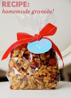 Homemade Granola Gifts, Recipe & Printables