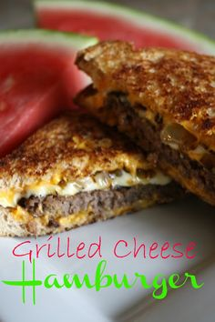 Grilled cheese hamburgers