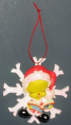 Musical Tweety Pie Bird Christmas Caroler Ornament Looney Tunes Warner Bros 1998 $7