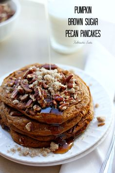 Pumpkin Brown Sugar Pecan Pancakes