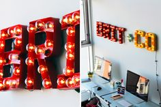 Flashing Lights! How to Make Your Own Vintage Marquee | Brit + Co.