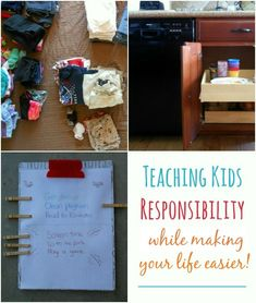 Teaching Kids Responsibility (and make your life easier)
