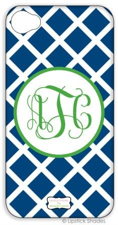 Monogrammed iPhone Lifeproof Case by Lipstick Shades - Lattice Pattern - Select Your Colors ($124.00)