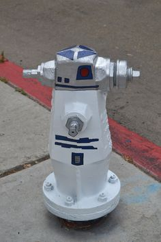 R2D2 fire hydrant.