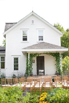 the Bride's childhood home played backdrop to this heartfelt wedding ceremony  Photography By / HeatherCookElliott.com