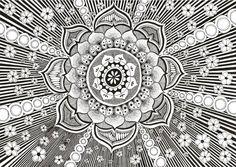 Lotus mandala doodle
