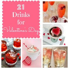 21 Valentine's Day Drinks - both alcoholic & non-alcoholic