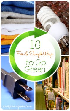 I love this! 10 Frugal & Simple Ways to Go Green Today -- do you do all of these things?