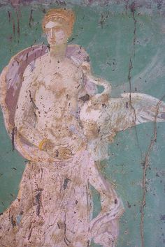 Roman Fresco Depicting Leda & The Swan  --  Recovered from Vesuvian Ash in Stabiae  --  1st century BCE