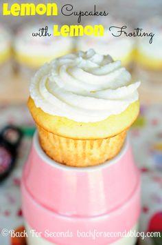 Lemon Cupcakes with Lemon Frosting - bjl