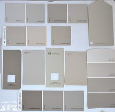 taupe grays - put paint chips on a board and take from room to room to see how they look in different lights