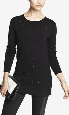 Love this, but hate that it's hand wash!  RELAXED EMBELLISHED TUNIC SWEATER from EXPRESS