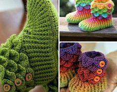 Trio Crocodile Stitch Boot Patterns