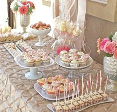 """beautiful bridal shower dessert table 