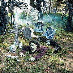 Creepy Fun Cemetery Scene