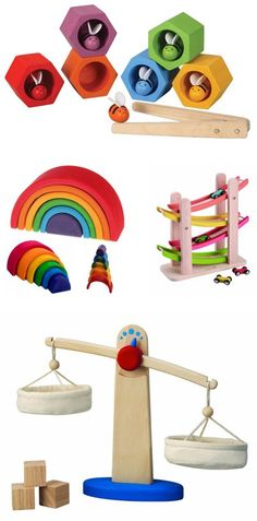 {wood toy gifts} great educational collection *love the scale