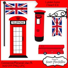 London Icons Clipart set