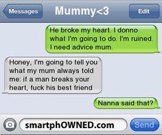 funny texts, friends, text fails, giggl, funny text messages, random, nana, friend fuunniieess, bahahaha
