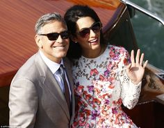 George and Mrs Clooney, or Mr & Mrs Sunglasses, as we like to call them !  Congratulations.