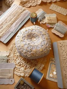 pretty lace pincushions