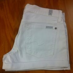 JUST IN!!! 7 For All Mankind white roll up shorts! 102 Arnould Blvd.  Lafayette LA 70506 337.984.9933