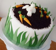 Bunny butts are so stinking cute. Bunny carrot cake By Loali on CakeCentral.com