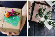 DIY: Amazing roundup of 14 stunningly creative gift wrap ideas.