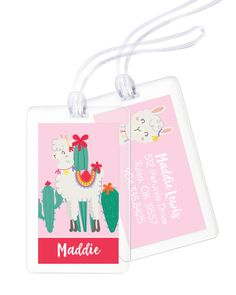 Personalized Llama Luggage Tags