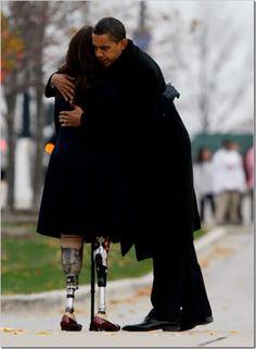 President Obama & U.S. Representative Tammy Duckworth, Illinois.