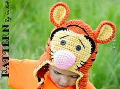 Safari Tiger Hat - Crochet PDF Pattern pattern by Ira Rott available through Ravelry!  Just click the pic!
